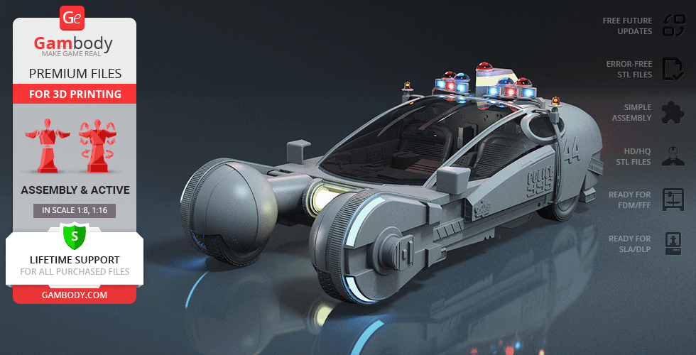 Buy Police Spinner 3D Printing Model | Assembly + Action
