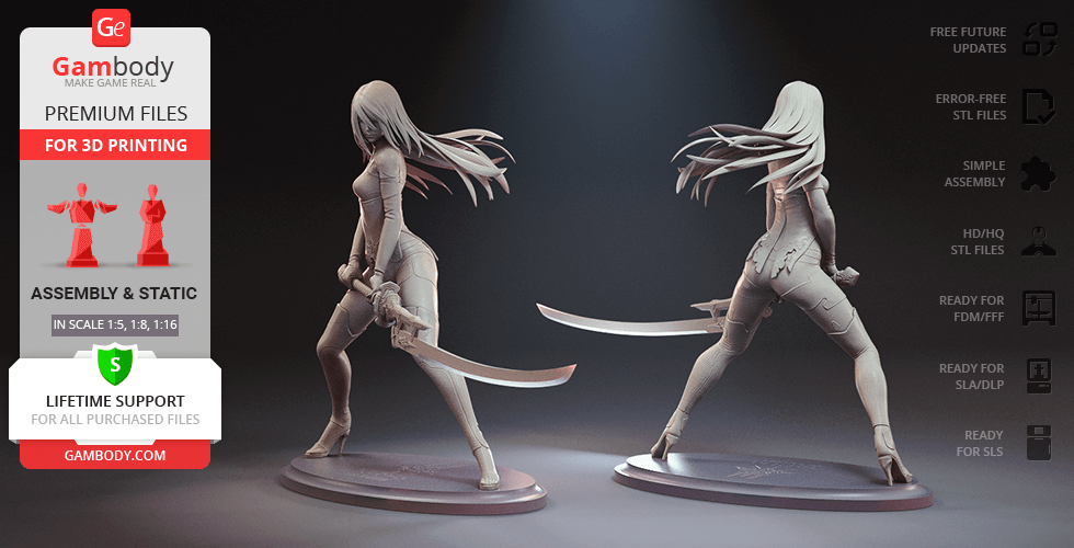 Buy YoRHa A2 3D Printing Figurine   Assembly