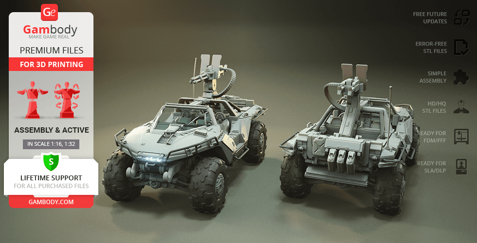 Buy Warthog M12B 3D Printing Model | Assembly + Action