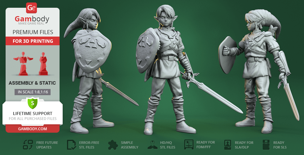 Link 3D Printing Figurine | Assembly