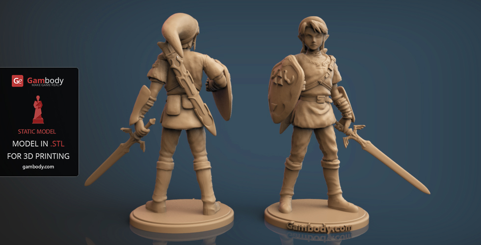 Connu Legend of Zelda Link 3D Model STL | Gambody 3D Printer Files MH39