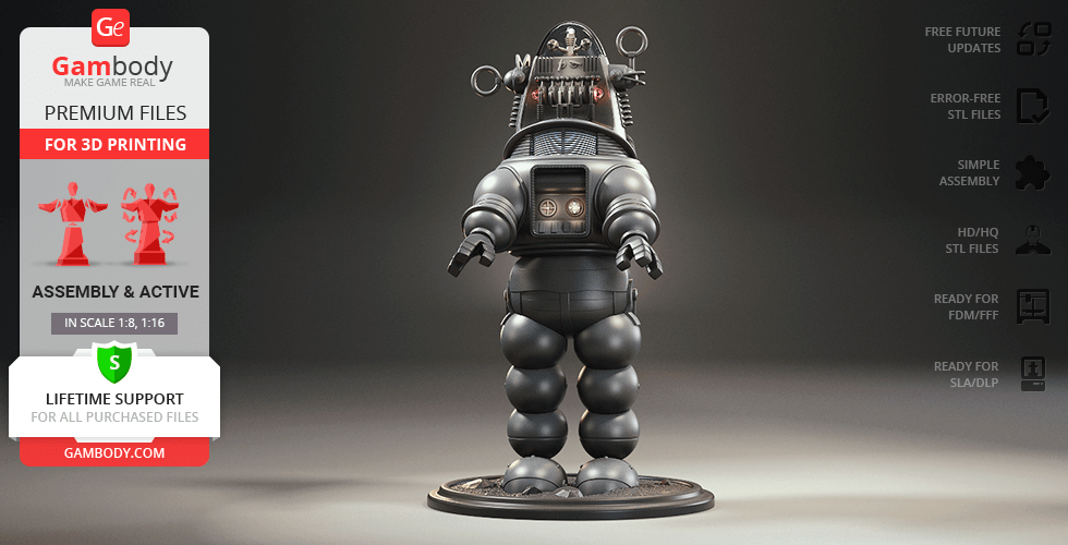 Buy Robby the Robot 3D Printing Model | Assembly + Action