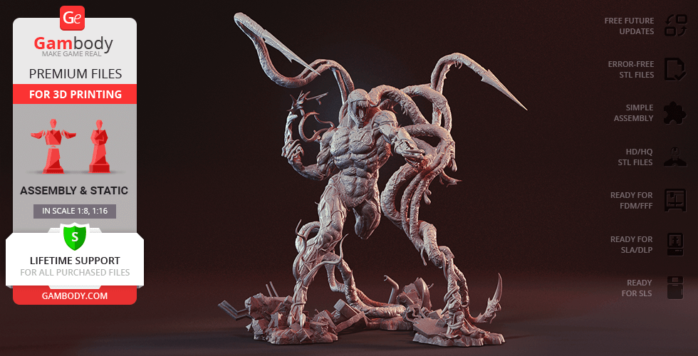 Buy Carnage 3D Printing Figurine | Assembly