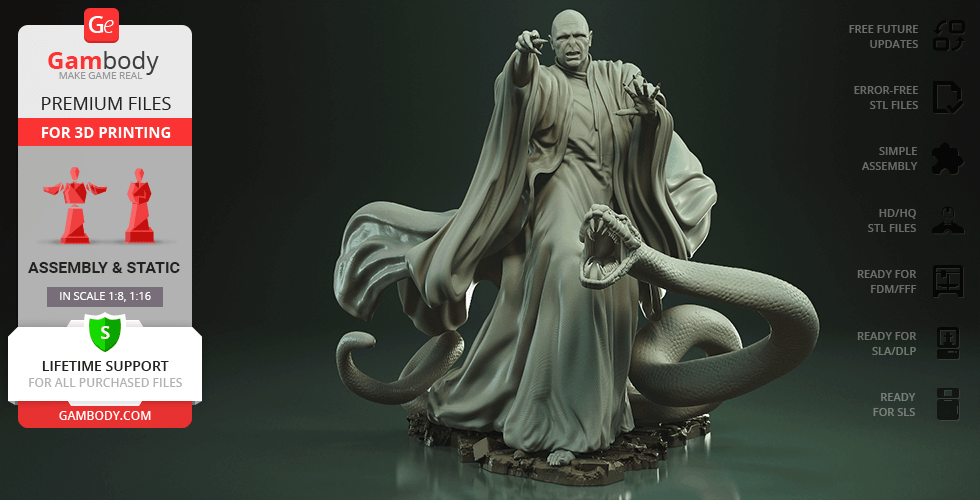 Buy Lord Voldemort 3D Printing Figurine   Assembly