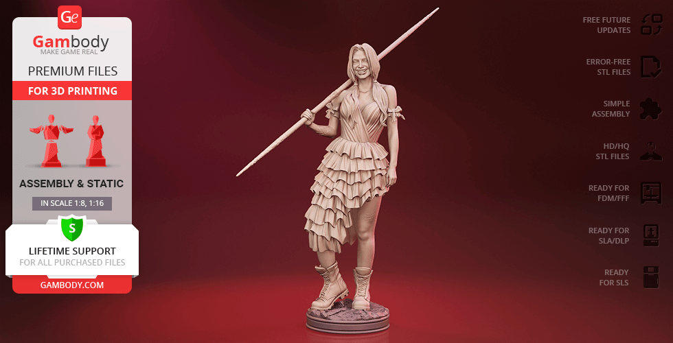 Buy Harley Quinn 2021 3D Printing Figurine   Assembly