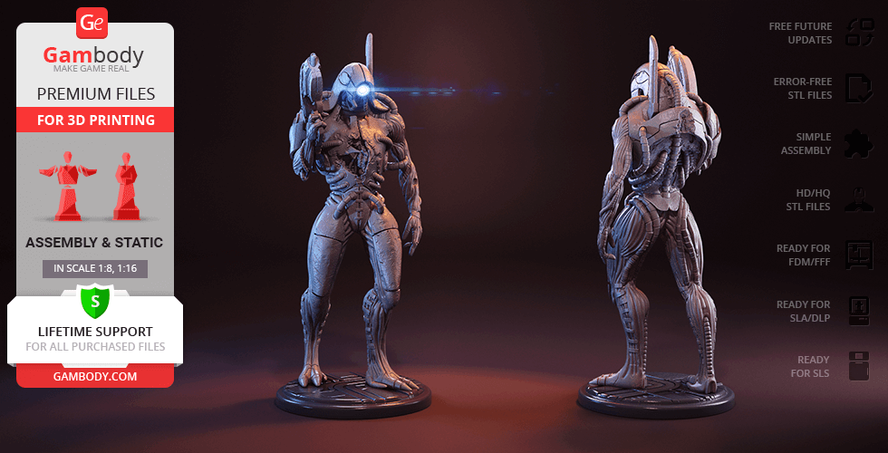 Buy Legion 3D Printing Figurine | Assembly