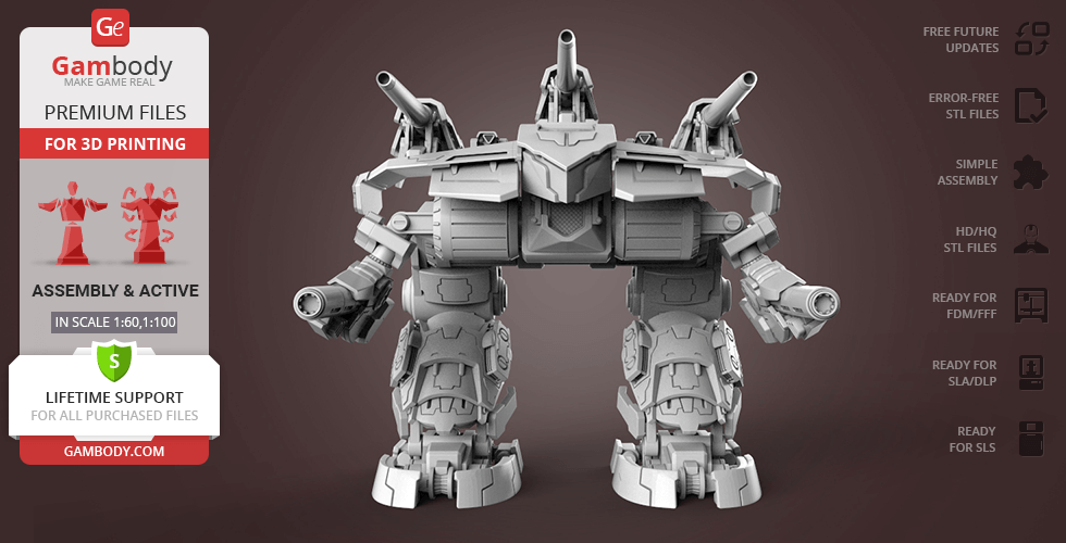 Buy MWO Omega 3D Model | Assembly + Action