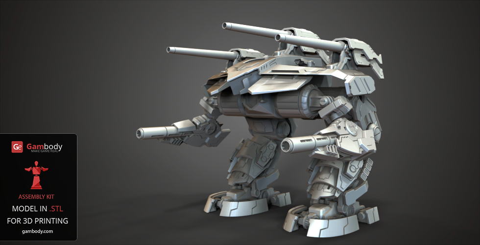 Buy Omega BattleMech 3D Model | Assembly Figure