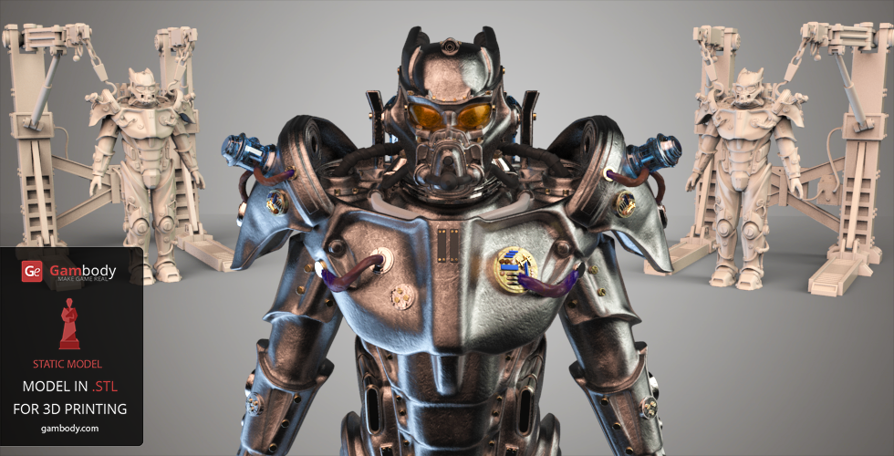 fallout 4 tesla power armor 3d model for printing