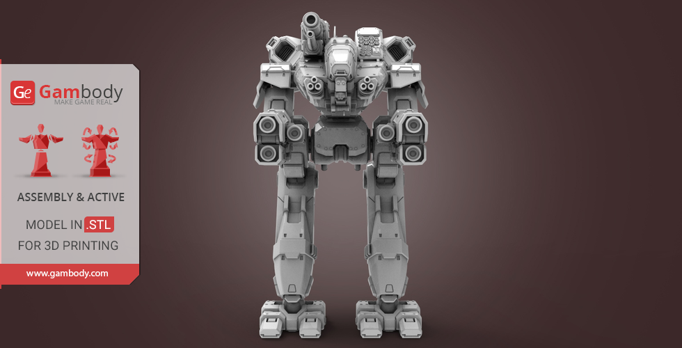 How To Figure Car Payment >> BattleTech Marauder 3D Model for Sale | Gambody