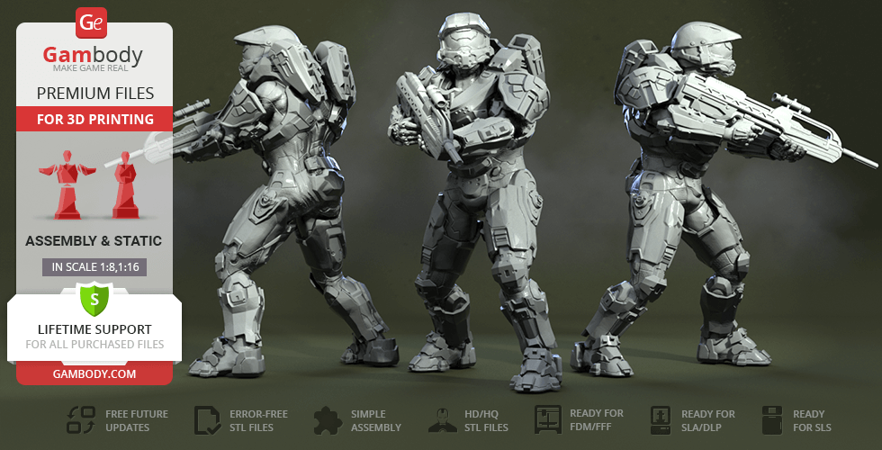 Buy Master Chief 3D Printing Figurine | Assembly