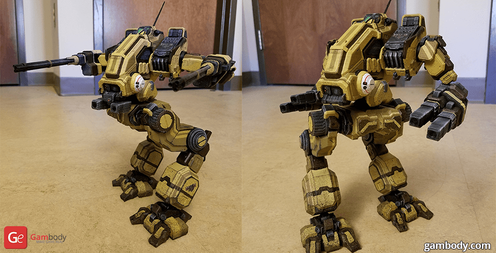 Buy MWO Mad Dog 3D Model | Assembly + Action