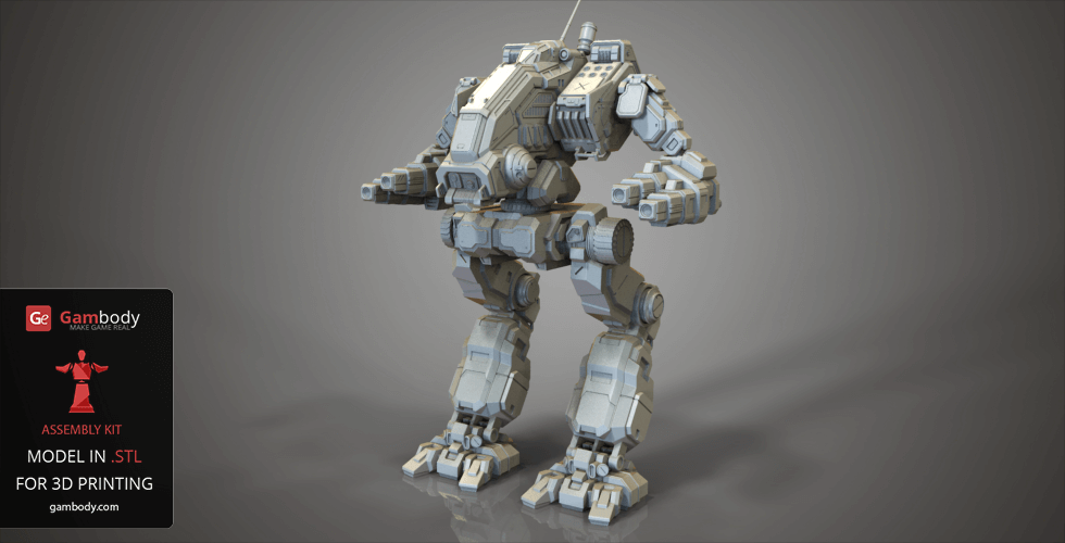 Buy MWO Mad Dog 3D Model | Assembly Action Figure