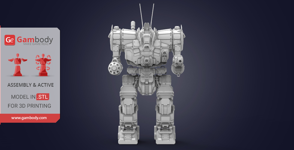 Buy MWO Zeus Mech 3D Model | Assembly