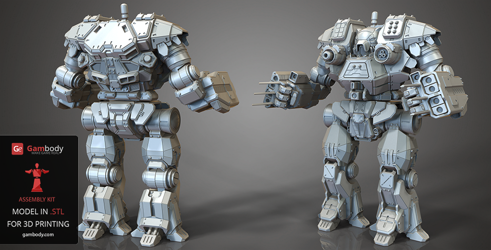 Buy Mech Warrior Kodiak 3D Model | Assembly