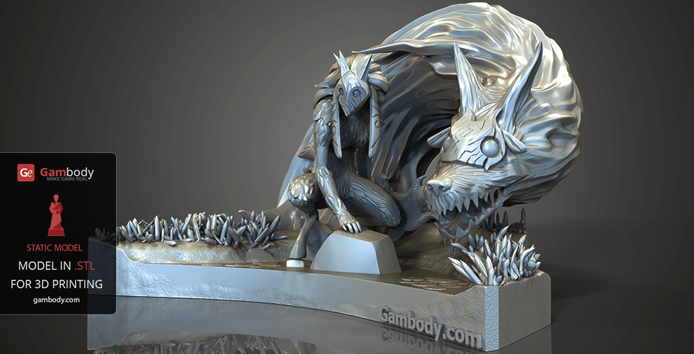 Buy Kindred 3D Model | Static Miniature