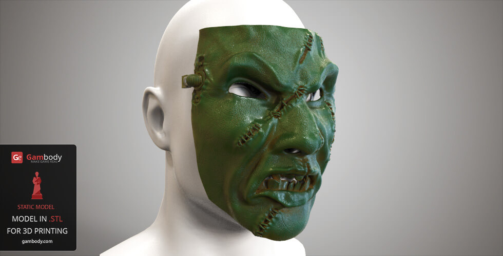 Buy Chaos Space Marine Mask for 3D Printing
