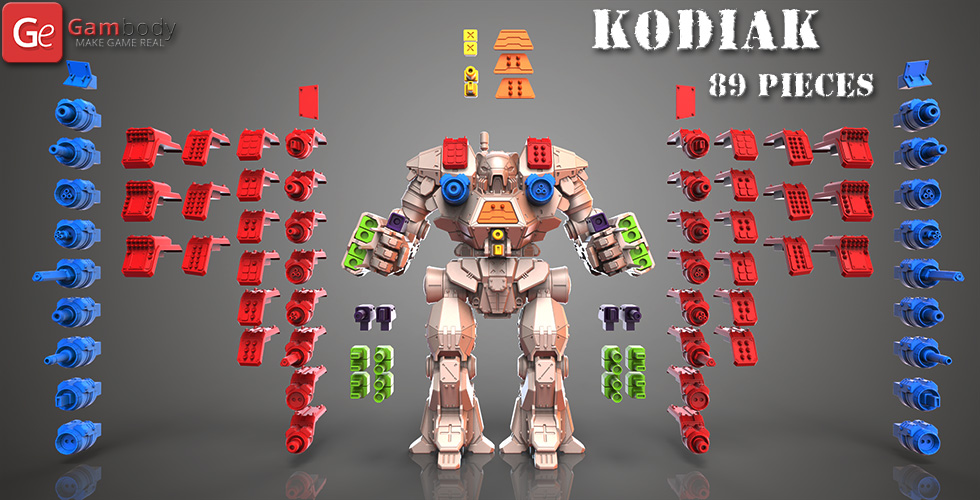 Buy MWO Kodiak Guns for 3D Printing