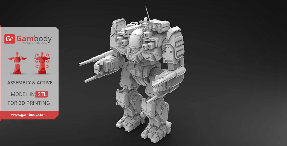 Buy MWO BattleMaster 3D Model | Assembly + Action