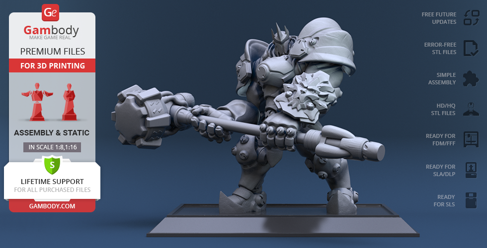 Buy Reinhardt 3D Printing Figurine | Assembly