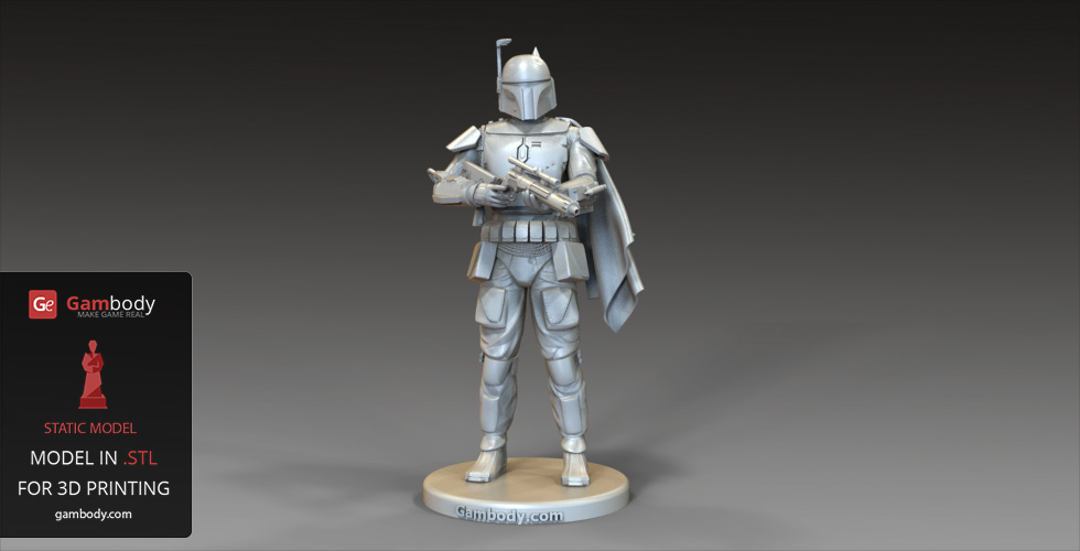 Connu Star Wars: Battlefront Boba Fett 3D Model | Gambody 3D Printing Files MH39