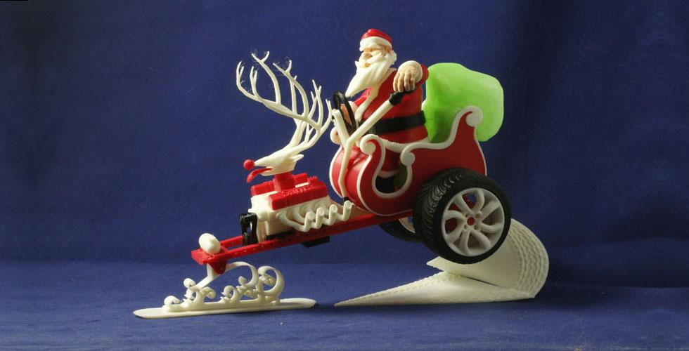 Buy Santa's New Sleigh 3d Print Model