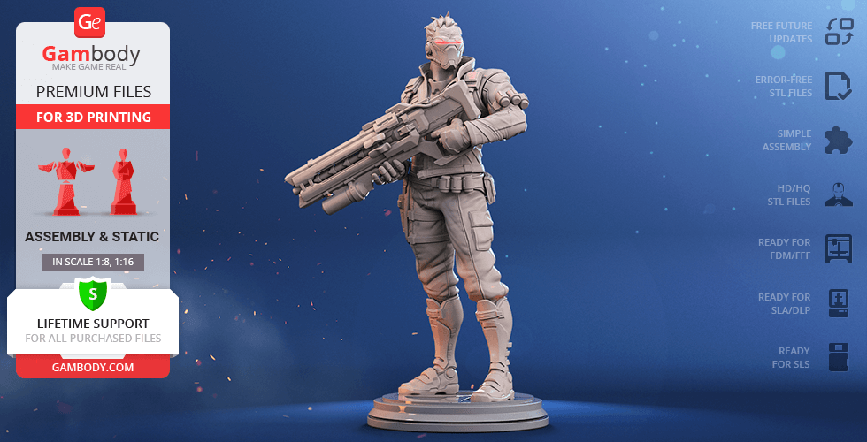 Buy Soldier: 76 3D Printing Figurine | Assembly