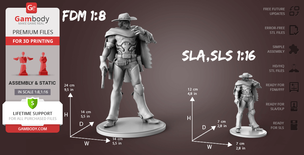 Buy McCree 3D Printing Figurine | Assembly
