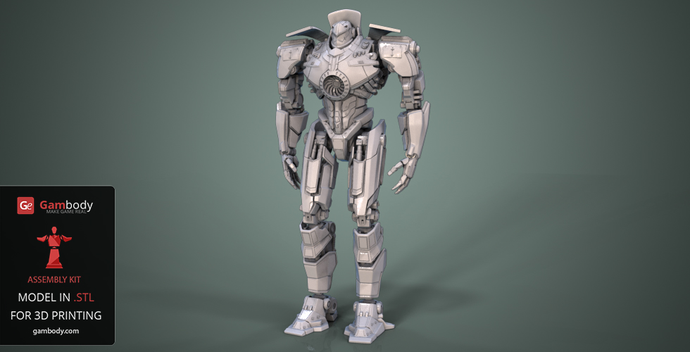 halo danger pacific rim gipsy danger 3d model gambody 3d printer files