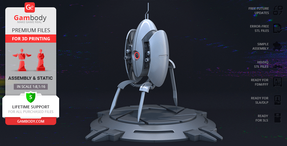 Buy Sentry Turret 3D Printing Model | Assembly