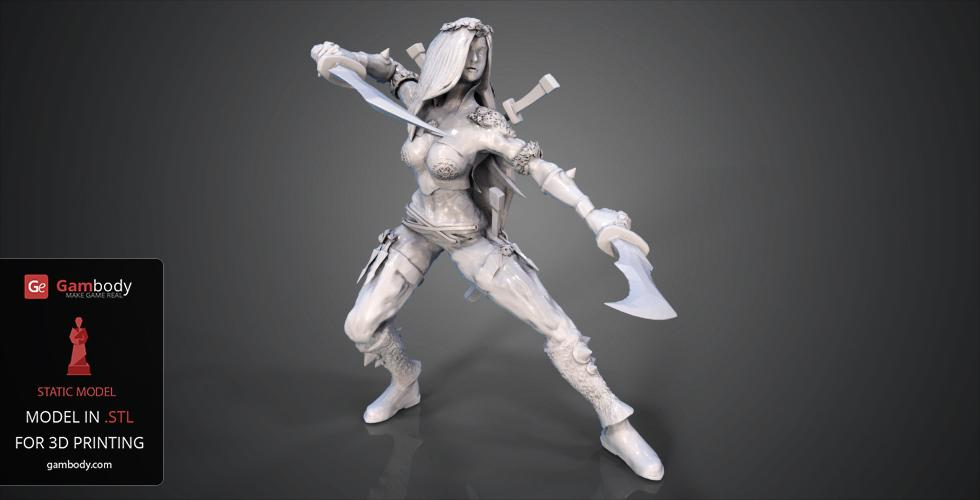 Buy Katarina 3D Model STL | Static Model
