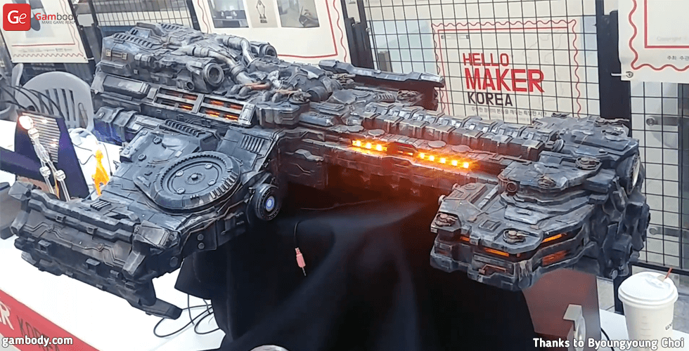 Buy Terran Battlecruiser 3D Print Model | Assembly Model