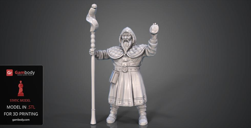 Buy Dwarf Wizard 3D Model | Static