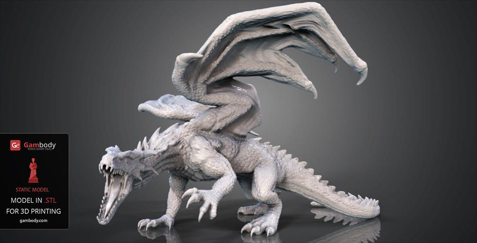 Buy Mountain Dragon 3D Model | Static + Assembly