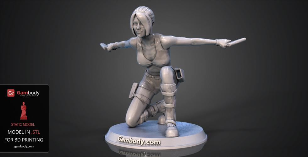 Buy Lara Croft in Action 3D Model | Static