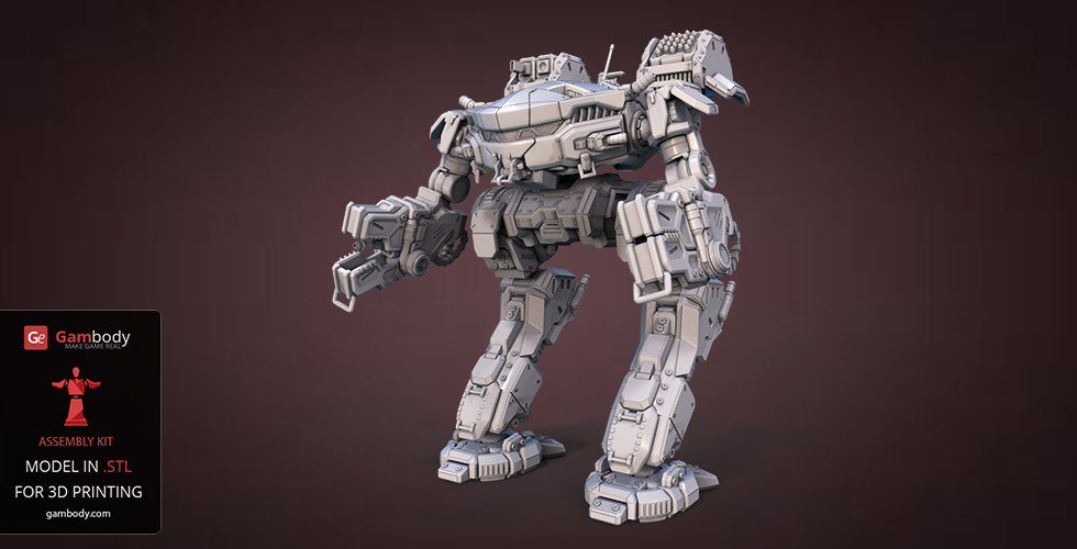 Buy MWO King Crab Action Figure for 3D Printing
