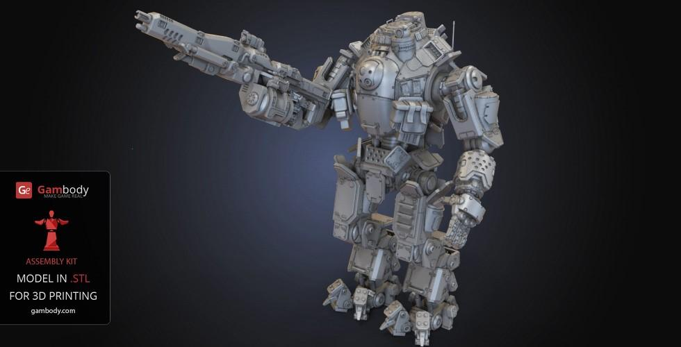Buy Battle Robot Atlas Titan 3D Model | Assembly