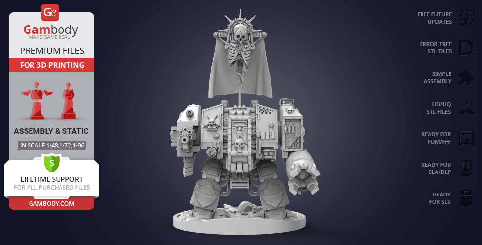 Buy Dreadnought 3D Printing Model | Assembly