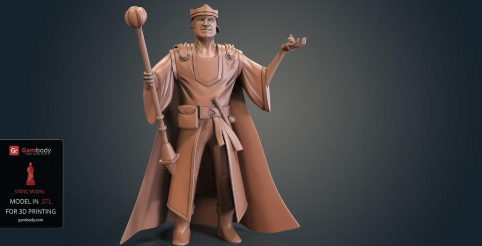 Buy Human Wizard 3D Model | Static
