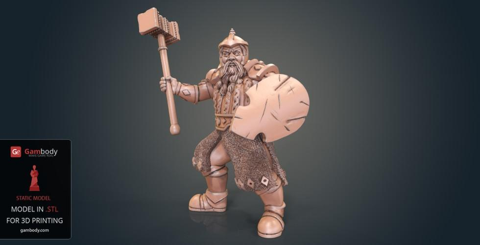 Buy Dwarf Warrior Fighter 3D Printing Figurine | Static