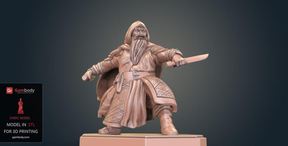 Buy Dwarf Rogue Warrior 3D Model | Static
