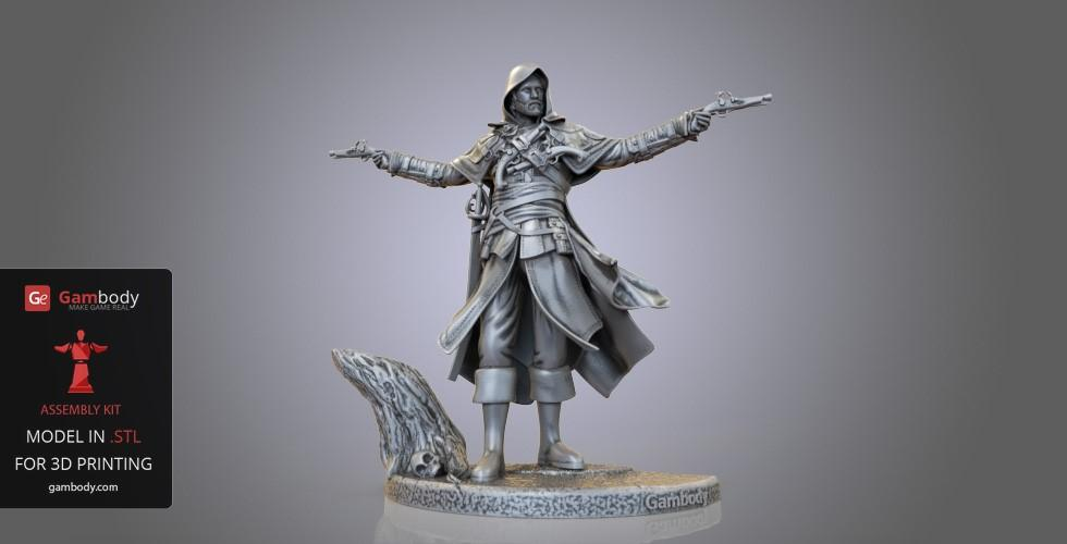 Buy Edward Kenway 3D Model | Static + Assembly