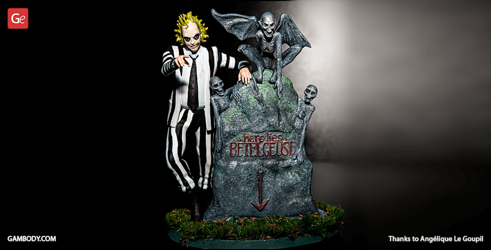 Buy Beetlejuice + Grave for 3D Printing | Assembly