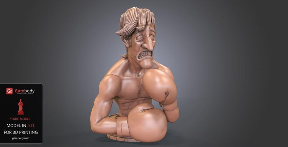 Buy Glass Joe 3D Printing Bust