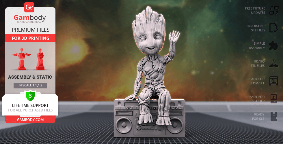 Buy Hello! Groot 3D Printing Figurine   Assembly
