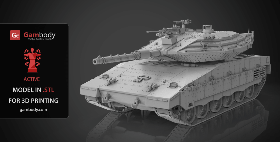 Buy Tank Merkava MK 4 3D Printing Model | Assembly