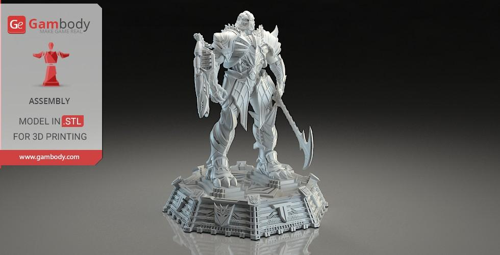 Buy Transformers 5 Megatron 3D Printing Model | Assembly