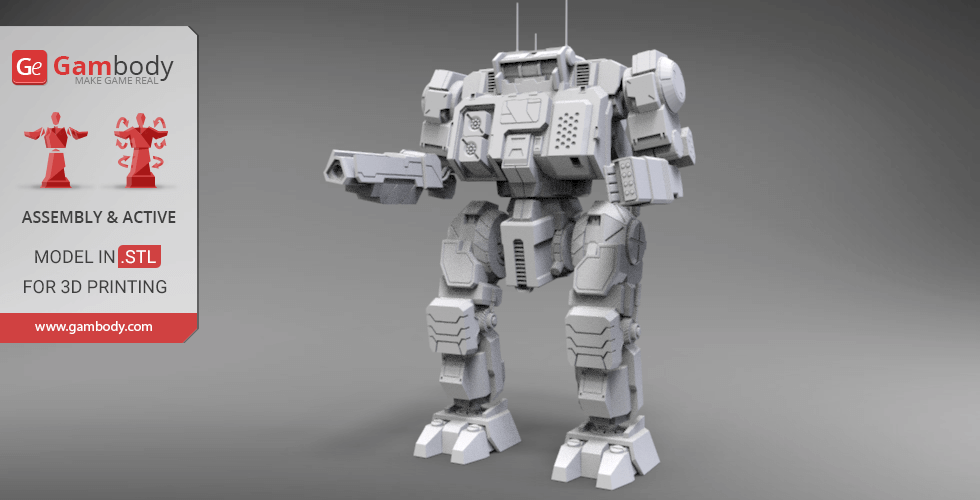 Buy MWO Highlander 3D Model | Assembly+Action Figurine