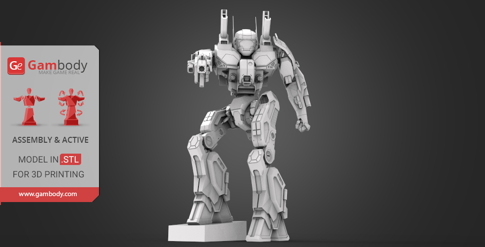 Buy MWO Phoenix Hawk 3D Printing Files | Assembly + Action