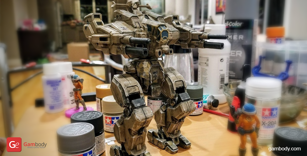 Buy MWO Rifleman Figure for 3D Printing | Assembly + Action
